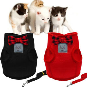 Escape Proof Cat Harness Jacket and Lead Soft Mesh Small Dog Kitten Vest