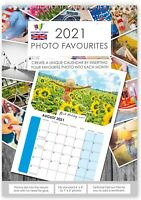 2021 PHOTO FAVOURITES CALENDAR INSERT YOUR OWN PHOTOS EACH MONTH PERSONALISE UK