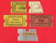 London Admission Tickets ~ St Pauls: War Museum: Monument: HMS Belfast: 70s/80s