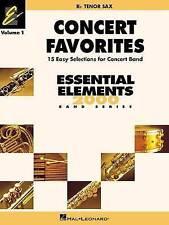 CONCERT FAVORITES VOL1       BB TENOR SAX (Essential Elements 2000 Band Series)