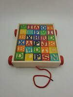 30 Wooden Childrens Building Blocks Alphabet, Pictures, & Lower Case 30mm^3