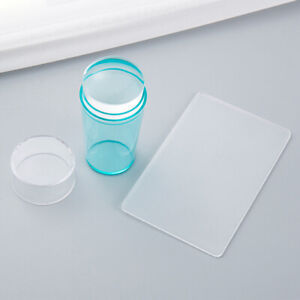Silicone Nail Art Stamping Kit Manicure Image Plates Stamping Tool with  ScrapI7