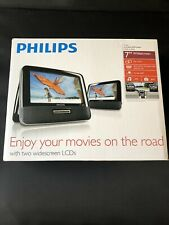 "Philips PD7012/37 Portable 7"" Dual-LCD Screens Car DVD Player Black"