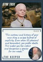 Star Trek TOS Archives & Inscriptions card #11 the Keeper Variation 19 out of 22
