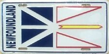 "Aluminum National Flag Newfoundland Canada ""License Plate"" NEW"