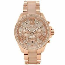 Michael Kors Ladies WREN Watch - Rose Gold Chronograph - MK6096 UK