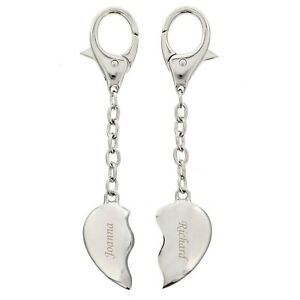 Personalised Joining Hearts Keyring - Engraved Free - Valentines, Engagement