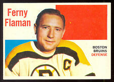 1960 61 TOPPS HOCKEY #57 FERNY FLAMAN EX-NM BOSTON BRUINS card