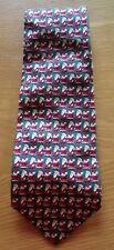 Adult Novelty Christmas Tie Santa Print The Windsor Collection Tie Rack Silk