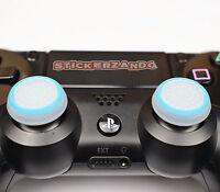 2 x klar blau Joystick Thumbstick Kappenl leuchtet PS4  XBOX Controller