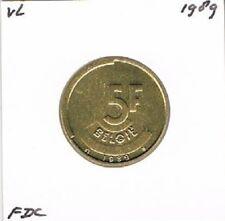 Belgium / België dutch 5 francs 1989 BU - KM164