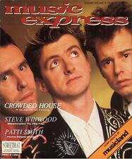 Music Express Magazine 1988 Crowded House Steve Winwood Patti Smith Led Zeppelin