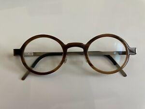 RARE Authentic LINDBERG 1810 Genuine Buffalo Horn/Titanium Eyeglasses // VINTAGE