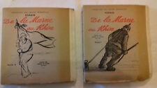 DE LA MARNE AU RHIN 2 vol. expl.numérotés FORAIN dessins de guerre 14-19 (col1a)