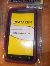 Amzer Soft Silicone Jelly Skin Fit Case Cover for HTC EVO 4G LTE - Purple