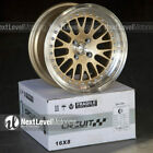Circuit Performance CP21 16x8 4-100 +25 Gold Wheels Fits Honda Civic EG EK Mesh