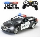 Prextex RC Remote Control Police Car Radio Control,with Lights And Siren