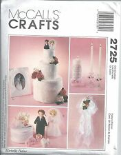 McCalls Sewing Pattern # 2725 Bridal Accessories One Size