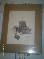 Sherry Hossom 1976' Art / Print Of Fishing Gear Mostly Still In Wrap