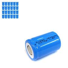 24 pcs 4/5 Sub C SC 1600mAh 1.2V Ni-Cd rechargeable Battery Cell Flat Top Blue