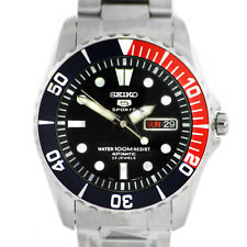 Man watch SEIKO sport automatic blue and red stainless steel SNZF15K1 New