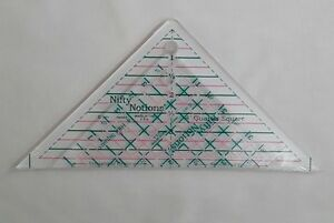 """Nifty Notions, 4"""" Half Square and 4"""" Quarter Square Rulers, Cut for the Cure 2pc"""