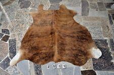 """NEW Cowhide Rug HAIR ON SKIN  Leather cowhide 2511-  61"""" x 62''"""