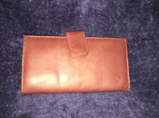 Vintage Brown Checkbook Wallet