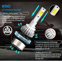 2X Kit phare de voiture COB C6 H4 10800LM 120W LED Ampoules 6000K Turbo FR
