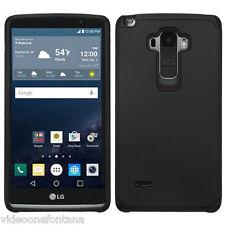 BLACK Hybrid Rubber Protective Hard Slim Case Cover For LG G Stylo LS770 G4 Note