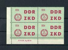 DDR-DIENST ZKD Nr.4 DV2 ** ECKRAND-Viererblock DRUCKVERMERK !!! (118555)