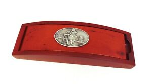 Alice 'Drink Me' Design Red Wooden Pen Box & Pen Set Alice In Wonderland Gift