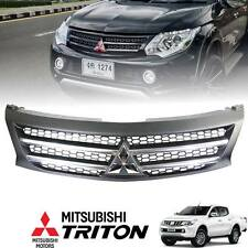 Front Black Bar Grille Chrome Logo Mitsubishi Triton L200 MN ML 14 15 16
