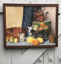 Vintage Still Life Oil On Board