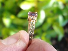 Vintage 14kt yellow gold ladies Natural .04TCW & 1/2ct. Amethyst ring