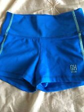 GILLY HICKS YOGA SHORT SHORT CHEEKY STRETCH SIZE X Small Blue