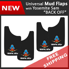 "Set of 4 Universal Fit Mud Flaps Splash Guards Yosemite Sam BackOff 11""x 19"""
