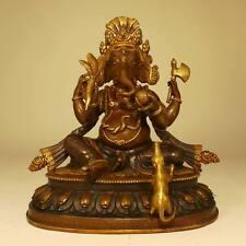 """GANESHA Statue de cuivre """" qualité """" Hindouisme Sagesse INDE SCULPTURE NEPAL"""