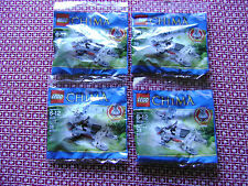 Lot of 4 Lego Chima 30251 Winzar's Pack Patrol New Sealed Polybags