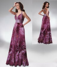 APPLAUSE-WINNING PURPLE & PINK PRINTS BEADED FORMAL/EVENING/PROM DRESS AU 8/US 6
