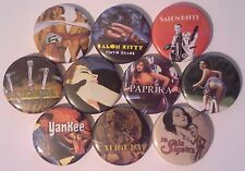 10 Tinto Brass button badges Salon Kitty Caligula Yankee Paprika Frivolous Lola