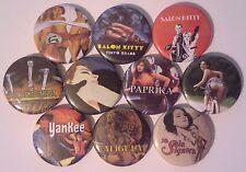 10 Tinto Brass button badges Salon Kitty Caligula Yankee Paprika Frivolous Lola