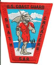 "USCG United States Coast Guard patch ""Death Cheaters, SAR"" 5-1/4 X 4-1/2 X2-3/8"