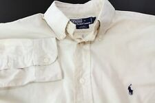 Polo By Ralph Lauren Manica Lunga Pietra Camicia Taglia M/39.4cm