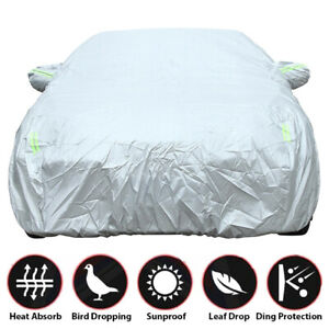3 Layer Full Car Cover Outdoor Rain Snow Dust UV Ray for Sedan Protection Indoor