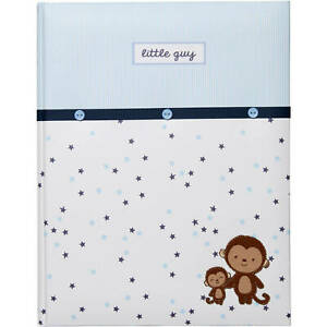 Child of Mine by Carter's Newborn Baby Boy Memory Book Monkey Blue Stars