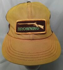 Vtg BROWNING Rifes Hunting Gun Trucker Hat with Patch made in USA