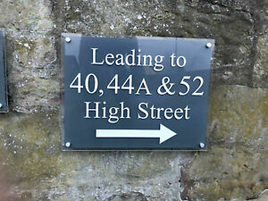 COMMERCIAL OFFICE GLASS EFFECT ACRYLIC BUSINESS SIGN BUILDING DIRECTIONAL SIGN