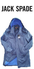 Jack Spade Men's Navy Rubberized Waterproof Hooded Trench Coat Size Large