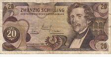 Billet banque AUTRICHE AUSTRIA 20 SCHILLING 1967 état voir scan 130